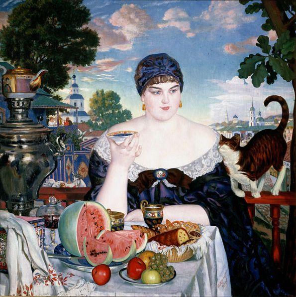 dipinto di boris kustodiev